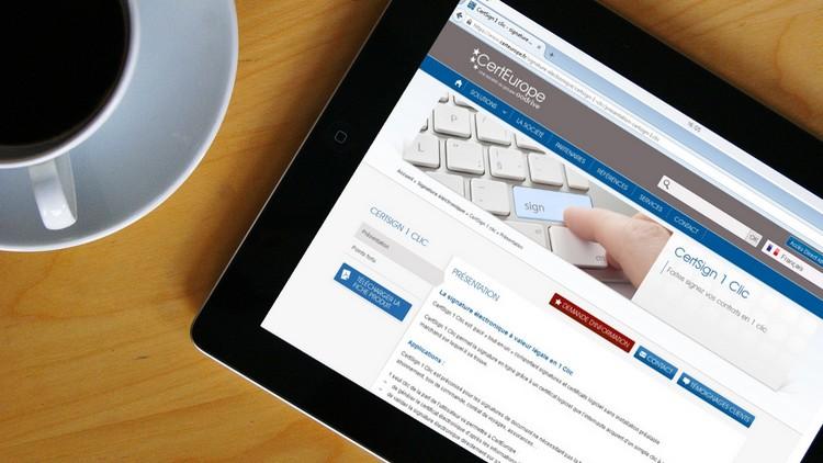 CertSign 1 Clic de CertEurope - Signature électronique