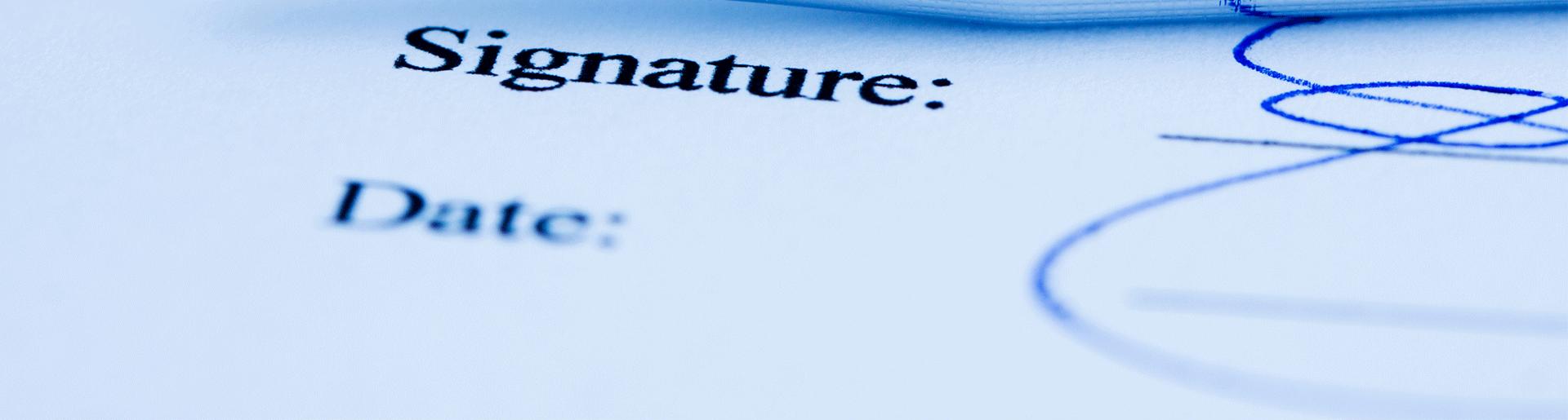 signature scannée